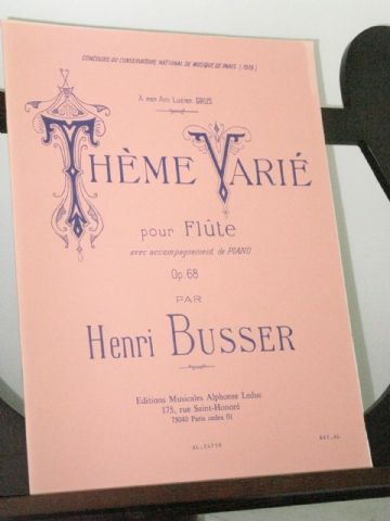 Busser H - Theme Varie Op 68 for Flute & Piano